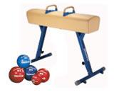Wyposażenie sal gimnastycznych, akcesoria sportowe